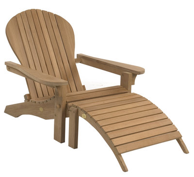 Adirondack Lounger mit Footstool