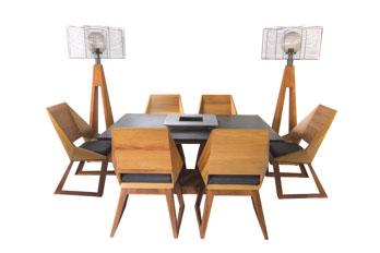 Quan Garden Art Tafelset met 6 stoelen (showroommodel)
