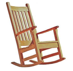 Beverly Rocking Chair - Teak & Garden